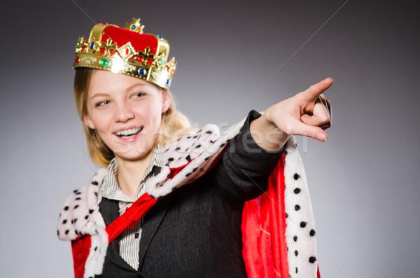 Coroa cinza menina empresário jovem Foto stock © Elnur