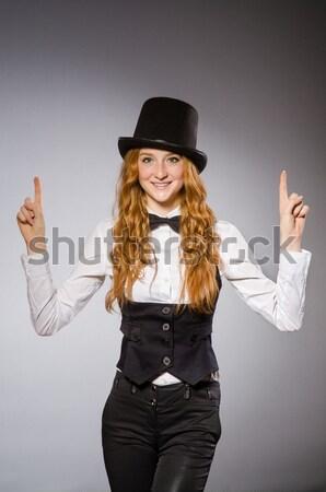 Bastante menina retro seis isolado Foto stock © Elnur