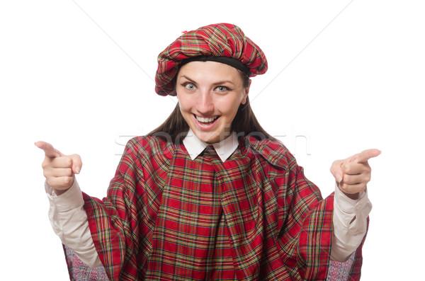 Scottish woman isolated on the white background Stock photo © Elnur