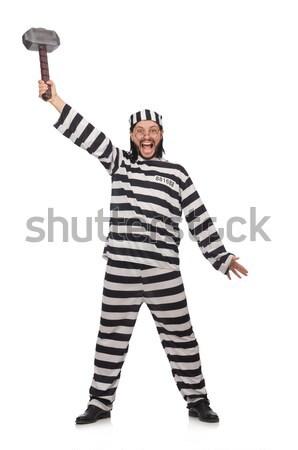 Gevangene geïsoleerd witte vrouw recht bal Stockfoto © Elnur