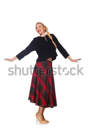 ブロンド 髪 モデル 着用 スカート 孤立した ストックフォト © Elnur