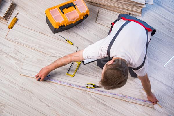 Сток-фото: человека · строительство · домой · комнату