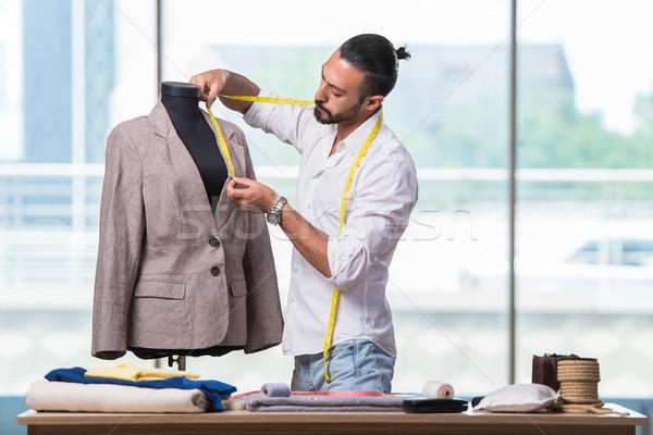 молодые портной рабочих новых одежду дизайна Сток-фото © Elnur