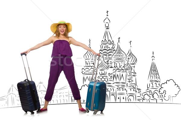 Jovem turismo Rússia menina feliz moda Foto stock © Elnur