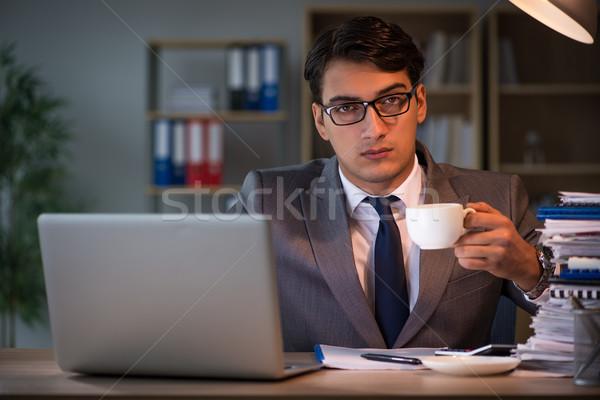бизнесмен служба долго бумаги работу ночь Сток-фото © Elnur