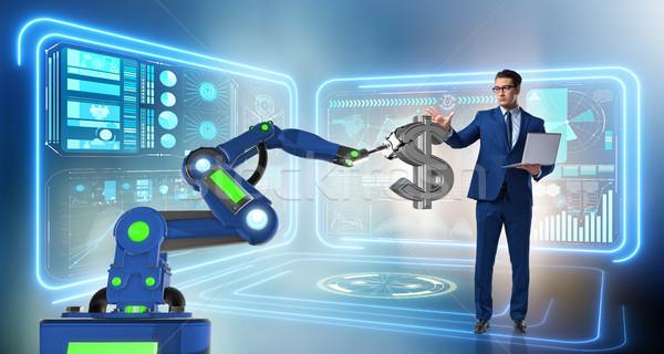 Valuta kereskedő modern technológiák férfi technológia Stock fotó © Elnur