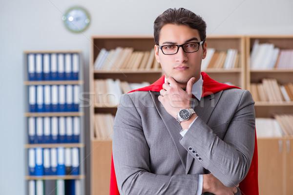 スーパーヒーロー ビジネスマン 作業 オフィス 作業 ホーム ストックフォト © Elnur