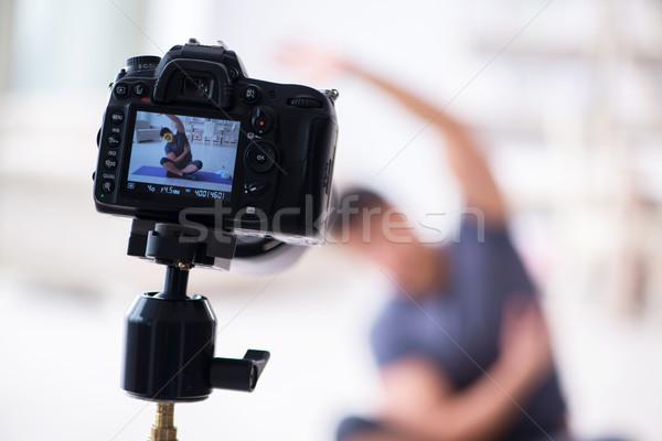 スポーツ 健康 ブロガー ビデオ スポーツ インターネット ストックフォト © Elnur