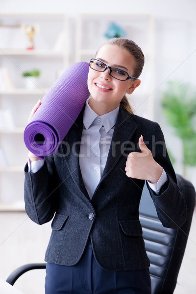 Young businesswoman in healthy lifestyle concept Stock photo © Elnur