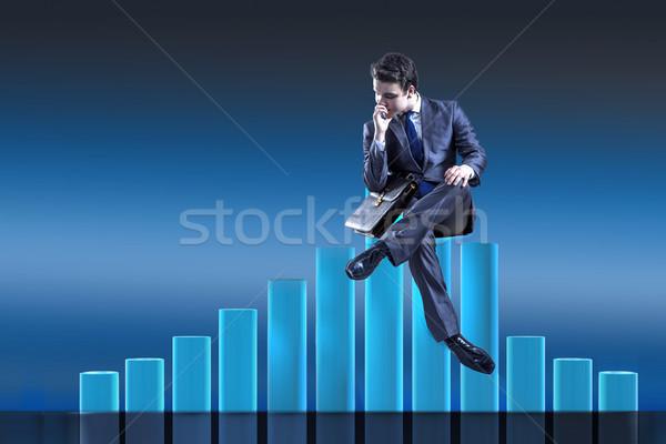 Depressed businessman in despair in crisis concept Stock photo © Elnur
