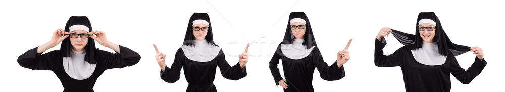 Young nun isolated on the white background Stock photo © Elnur