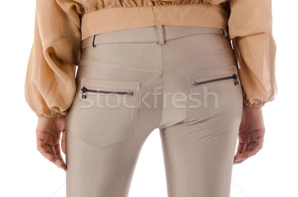 ズボン 孤立した 白 モデル 背景 ジーンズ ストックフォト © Elnur