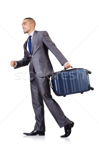 ビジネスマン 荷物 白 ビジネス 男 作業 ストックフォト © Elnur
