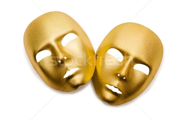 Shiny masks isolated on white background Stock photo © Elnur