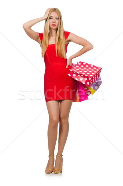 Genç kadın beyaz kadın mutlu moda Stok fotoğraf © Elnur