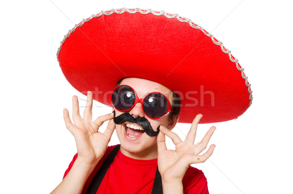Funny mexican isolated on the white Stock photo © Elnur