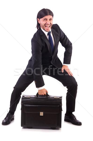 Businessman on business trip with luggage Stock photo © Elnur