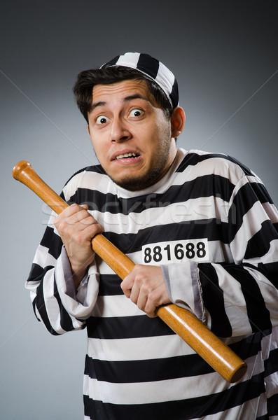 Vicces börtön bennlakó sport törvény jókedv Stock fotó © Elnur