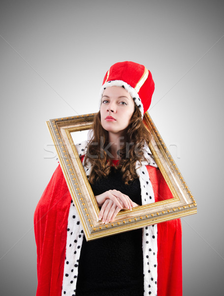 Kobieta królowej funny pracy biznesmen wykonawczej Zdjęcia stock © Elnur