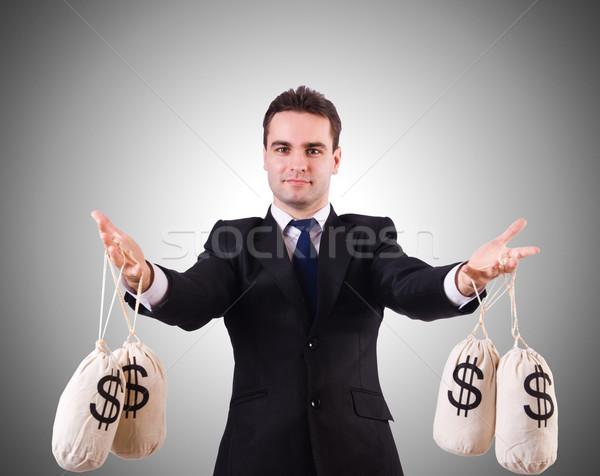 Férfi pénz fehér férfi üzlet iroda arc Stock fotó © Elnur