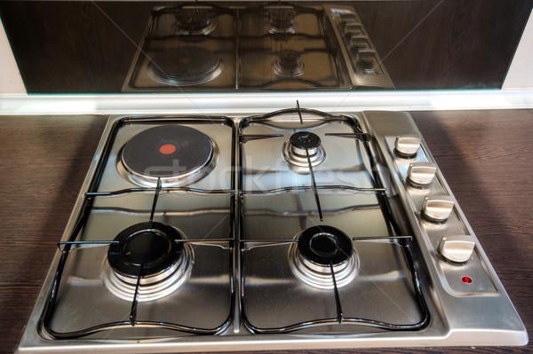 Interior of modern kitchen Stock photo © Elnur