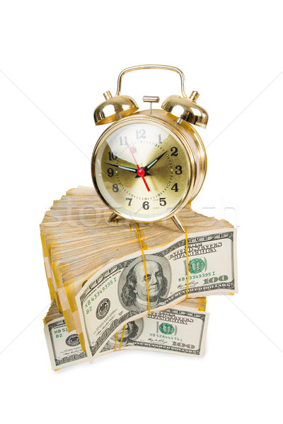 Il tempo è denaro clock dollari guardare contanti finanziaria Foto d'archivio © Elnur