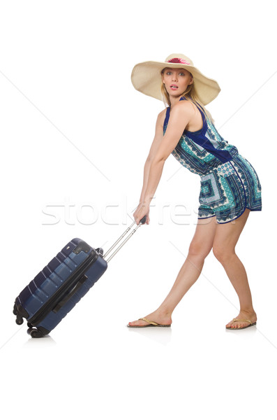 Vrouw zomervakantie meisje achtergrond leuk Stockfoto © Elnur