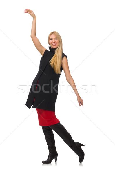 Dość młoda dziewczyna spódnica odizolowany biały dziewczyna Zdjęcia stock © Elnur
