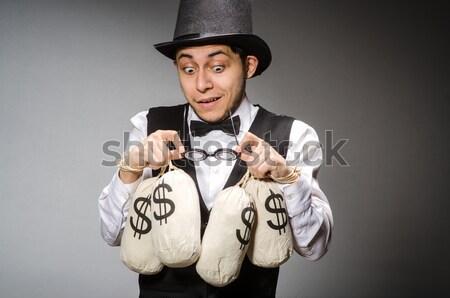 Criminal man isolated on the white Stock photo © Elnur