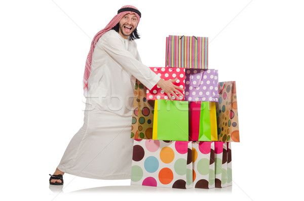 Arab man with shopping bags Stock photo © Elnur