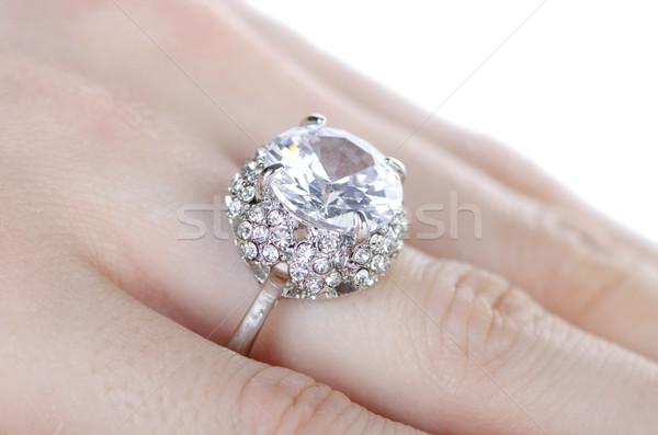 ювелирных кольца пальца цепь Diamond Сток-фото © Elnur