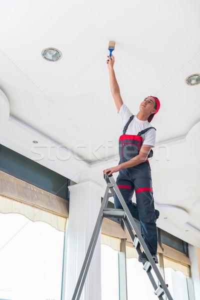 Сток-фото: молодые · художника · Живопись · потолок · строительство · стены