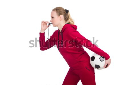 Woman in sports concept isolated on white Stock photo © Elnur