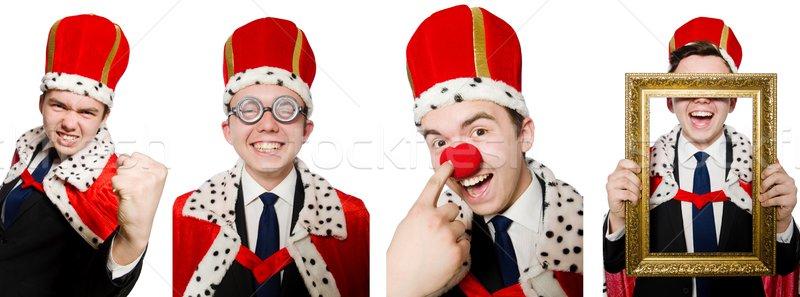 Rey empresario funny oficina hombre traje Foto stock © Elnur