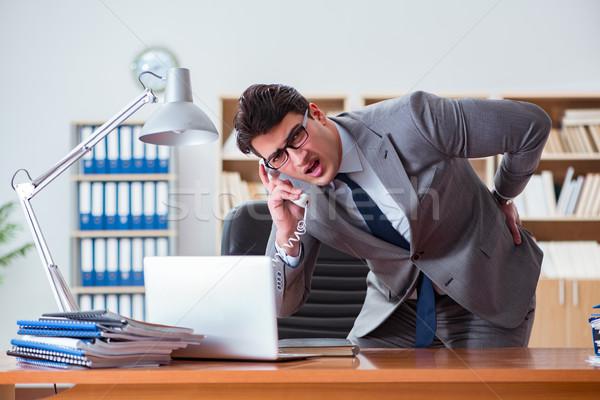 Empresário sentimento dor escritório mão trabalhar Foto stock © Elnur