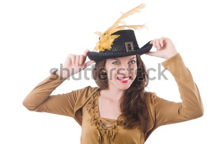 Woman cowgirl isolated on white Stock photo © Elnur