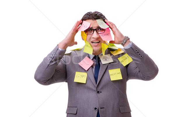 Empresário muitos isolado branco escritório trabalhar Foto stock © Elnur