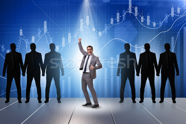бизнесмен Spotlight бизнеса человека толпа оратора Сток-фото © Elnur