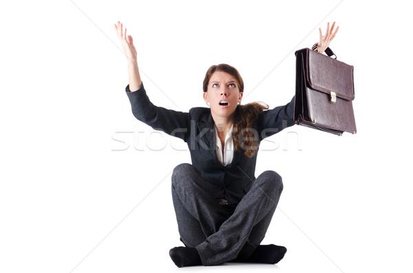 Zakenvrouw geïsoleerd witte kantoor gezicht Stockfoto © Elnur