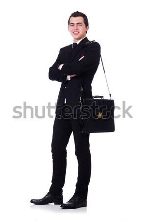 Letartóztatva üzletember stúdió lövöldözés üzlet fém Stock fotó © Elnur