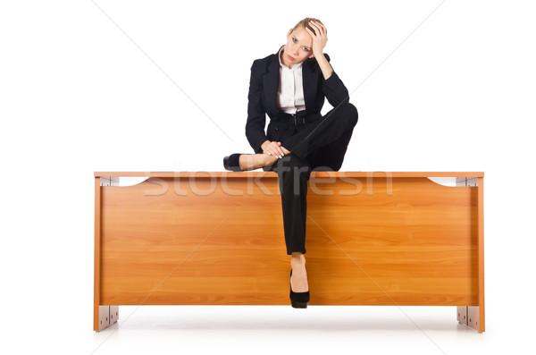 Foto stock: Empresária · mulher · secretária · trabalhar · trabalhador · estresse