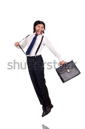 Stock photo: Businesswoman with chain isolated on the white