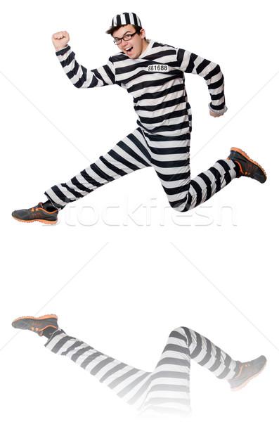 Funny więzienia więzień policji wolności biały Zdjęcia stock © Elnur
