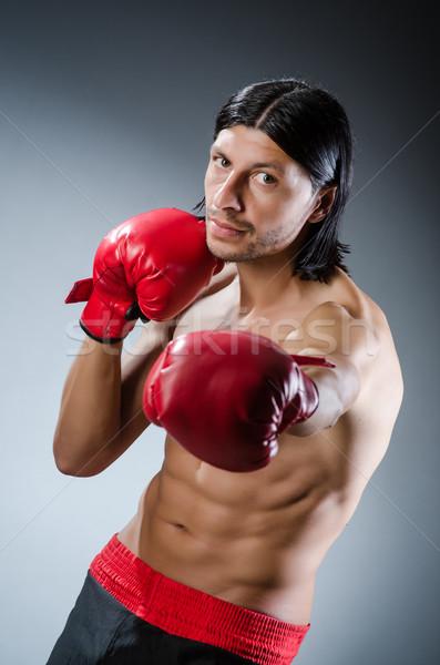 Artes marciais lutador treinamento mão fitness caixa Foto stock © Elnur