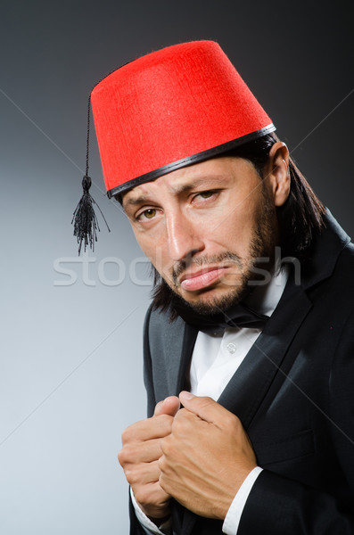 Man in traditional turkish hat and dress Stock photo © Elnur