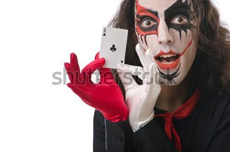 Komik şeytan karanlık gülümseme seksi mutlu Stok fotoğraf © Elnur
