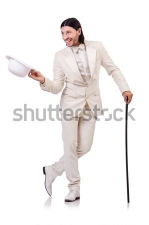 Uomo bianco abbigliamento sportivo isolato uomo bianco sport Foto d'archivio © Elnur