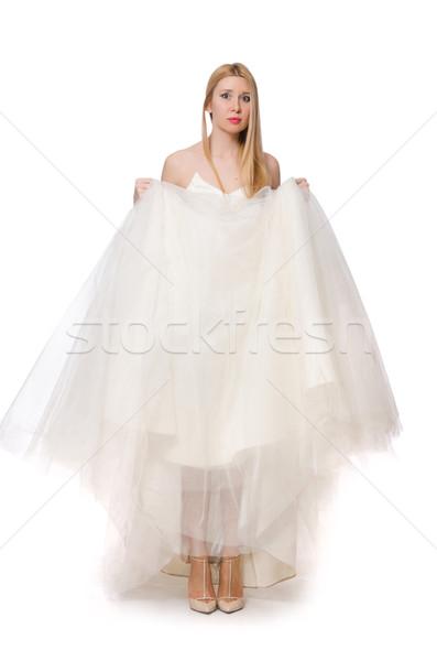 Nő esküvői ruha izolált fehér lány divat Stock fotó © Elnur