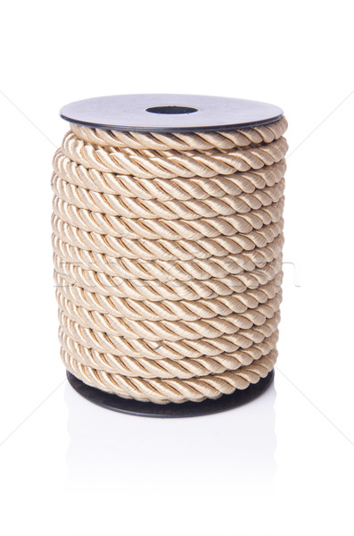 Reel of rope isolated on the white Stock photo © Elnur