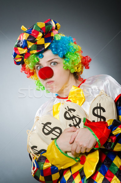 Funny clown in comical concept Stock photo © Elnur